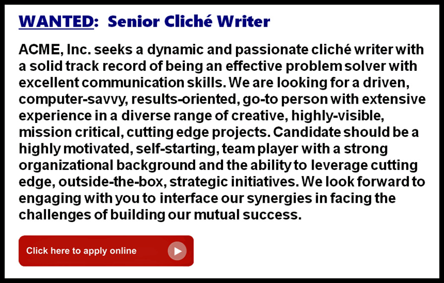 wanted-senior-cliche-writer